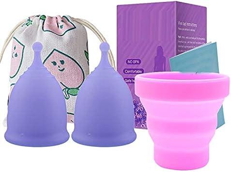 Fanuse 4 Piezas/Lote Copa Menstrual para Higiene Femenina ...
