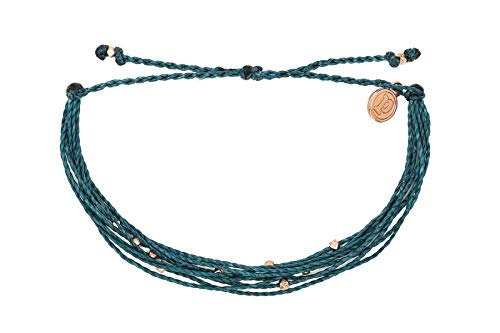 Pura Vida Rose Gold Malibu Mediterranean Beaded Bracelet - Plated Charm Adjustable Band