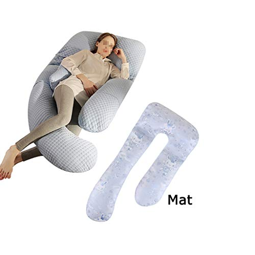 Xudongliu Pregnant Woman Pillow U Type Multifunction Waist Belt Side Sleeping Pillow Side Lying Supplies Pillow During Pregnancy Stomach Lift go to Bed Artifact Pillow (Color : C) (Sleeping On Your Stomach During Early Pregnancy)