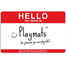 Talisman Designs Interactive Playmats, Pad of 20 Placemats, Red