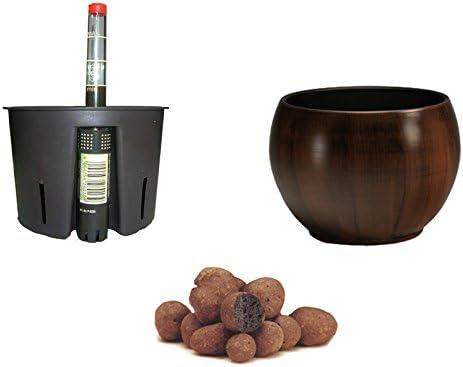 Set4 Keramik Hydro Blumentopf Bali Ø20cm+Kulturtopf+WA+Blähton
