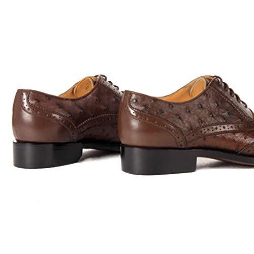Brown Pelle Goodyear Scarpe Misura Confortevole di Uomo da in Personalizzate Tonda Scarpe da Uomo Testa Stringate su Lusso C5wxwqT