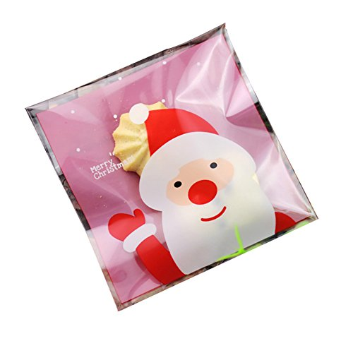 100pcs Lovely Plastic Candy Biscuit Gift Packaging Bag(Pink) - 6