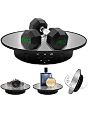 ZLMONDEE Motorized Rotating Display Stand, 7.87inch /17.6LB Load,Mirror Covered 360 Degree Turntable Display Stand for Photography Products and Shows, Max Load 8KG/ 20CM Video Show(Black)