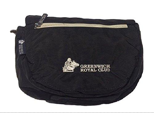Borsa Donna Tracolla Mezzaluna Piccola Nera Ultraleggera Greenwich Royal Club