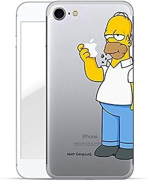 Finoo Iphone 7 Funda Rígida Funda de Móvil Simpsons Diseño Fina ...