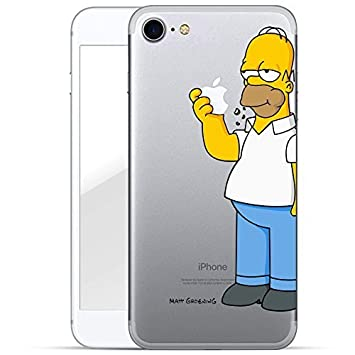 detailed look 7328c 24e7c Finoo premium slim shockproof protective case with licensed pattern, the  motif of Homer Simpson eating an apple, for iPhone 7