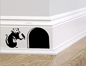 Banksy Skirting Board Wall Art Bedroom Living Room Lounge Wall