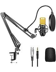 Neewer NW-800 Pro Estudio Radiodifusión Grabación Micrófono Condensador con NW-35 Microfono Ajustable Suspensión Tijera Brazo Soporte