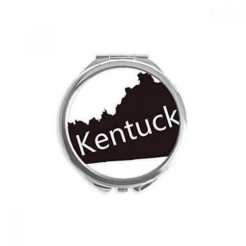Kentucky America USA Map Silhouette Mirror Round Portable Hand Pocket Makeup (Kentucky Silhouette)
