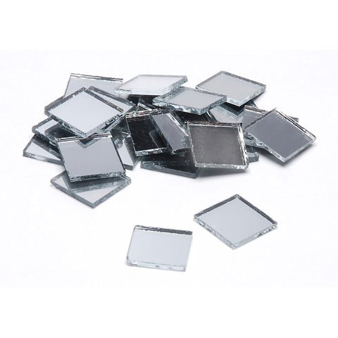 Darice Bulk Buy DIY Crafts Mirror Square 1/2 inch 25 pieces