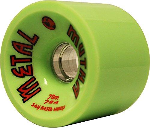 Longboard WheelsメタルCNCアルミニウムコア70 mm 78 a 緑 Dregs Race