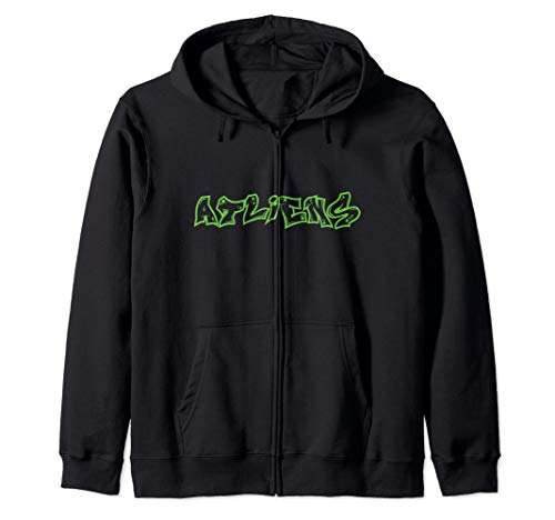 Atlanta ATLiens  Zip Hoodie (Fleece Atlanta Thrashers Sweatshirt)