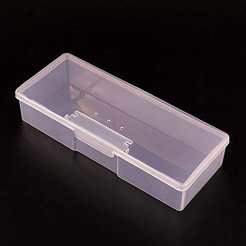 - Plastic Nail Art Manicure Tool Brush Pen Storage Box Container Holder Case Box (Colors - Pink)