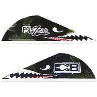 "Bohning True Color 2"" Blazer Vanes Flying Tiger Shark = Blazer Vane, 36 Unidades"