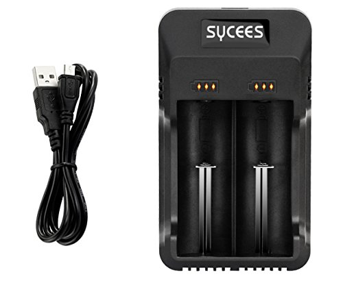 Price comparison product image Sycees 1000mA Fast USB Powered Battery Charger for 3.7V 18650 26650 Li-ion,  1.2V AA AAA Ni-MH Ni-Cd Rechargeable Battery and More