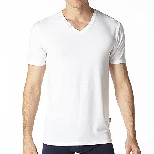 LAPASA Mens Short Sleeve Micro Modal Undershirts V-Neck/Crew Neck T-Shirts Solid Plain Tees 2 Pack