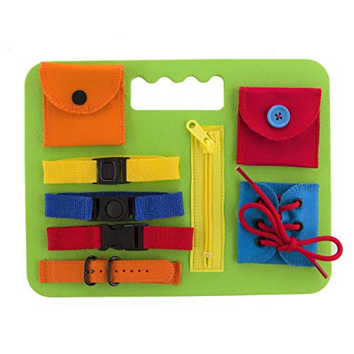 Houseables Busy Boards for Toddlers, Toddler Activity Board, 8.5