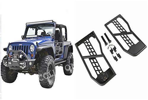 cclipton 07-17 Jeep Wrangler JK Unlimited 2 Door Safari Steel Tube Doors Without Mirror