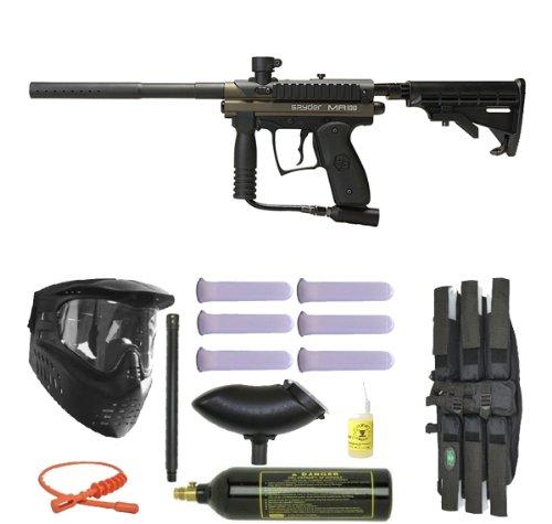 Spyder MR100 Pro Paintball Marker Gun 3Skull Super Mega Set - Olive