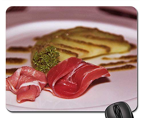 Mouse Pads - Gourmet 3-Course Dinner Restaurant Raw Meat