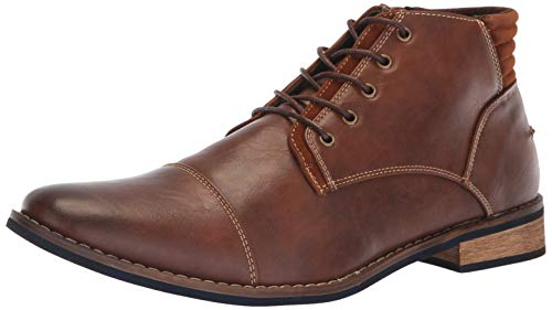 Deer Stags Men's Rhodes Memory Foam Dress Comfort Casual Fashion Cap Toe Chukka Boot, Brown/Blue, 11.5 Medium US by Deer Stags