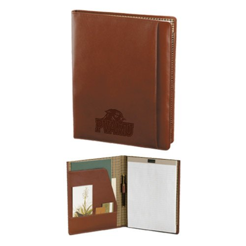 Prairie View A&M Cutter & Buck Chestnut Leather Writing Pad 'Official Logo Engraved' by CollegeFanGear