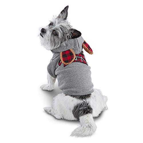 Bond & Co. Cuddle Bear Patchwork Dog Hoodie, Large