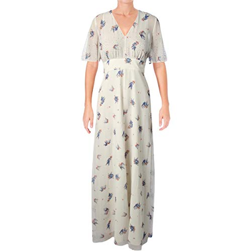 Juicy Couture Women's Drifting Wildflowers Maxi Dress w/Embroidery Angel Drifting Wildflowers 8