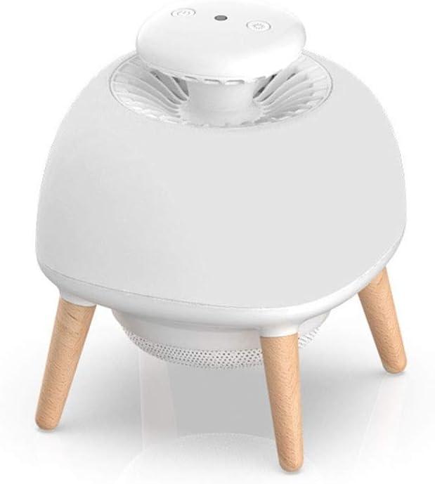 ERT Inicio Silencio Control Inteligente de la luz 2D Bionic UV Mosquito Ventilador de 11 Hojas Vortex Cyclone Tres Modos Pantalla de Silicona Olmo Soporte Foco for Mosquitos