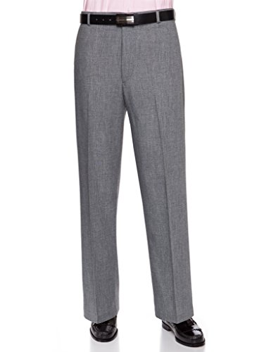 Mens Dress Pants – Wool Blend Long Formal Pants for Men, Made in USA