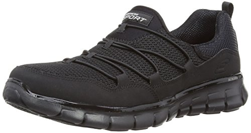 (Skechers Sport Women's Loving Life Memory Foam Fashion Sneaker,Black,8.5 M US)