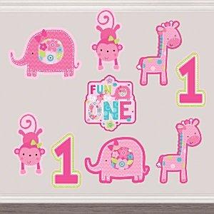 Salvajes en 1er cumpleaños recortes de una niña (Pack de 12 ...