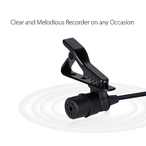 Lavalier Microphone, MAONO AU100 Hands Free Clip-on Lapel Mic with Omnidirectional Condenser for Podcast, Recording, DSLR,Camera,iPhone,Android,Samsung,Sony,PC,Laptop (236 in) by MAONO (Image #6)