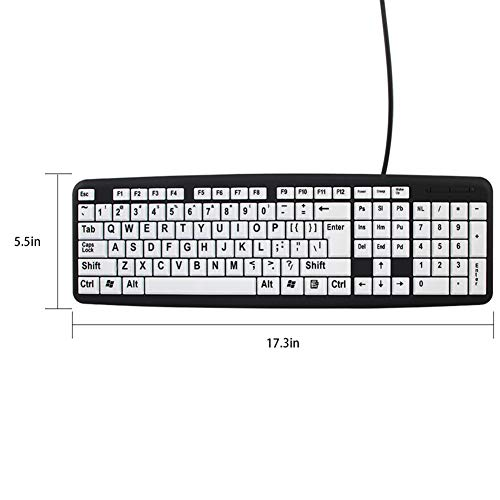 Amazon com: USB Wired Keyboard,Large Print Letter Computer Keypad