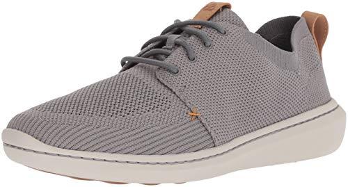 CLARKS Men's Step Urban Mix Sneaker, Grey Textile Knit, 110 M US