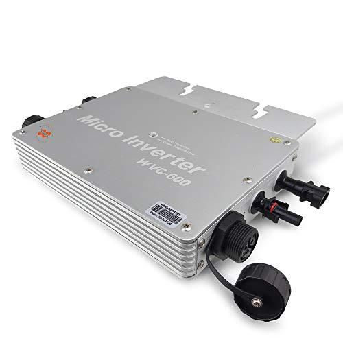 Marsrock IP65 Waterproof 600W Micro Solar Inverter Converter with DC 22-50VDC Wide Input Voltage to 80-160VAC (110VAC) High Efficiency MPPT Grid Tie Inverter (WV600110S)