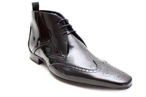 Jeffery West Black Line G0561Ap - Chaussures montantes vernies - homme