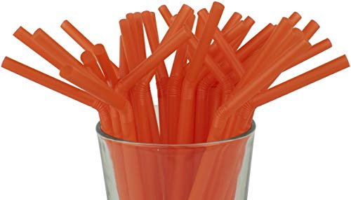 Made in USA Pack of 100 Orange Flexible Bendy (8.25