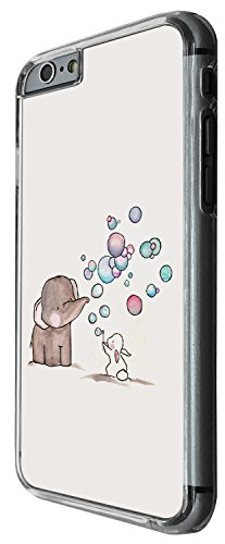 1245 - Cool Fun Trendy cute Elephant bunny rabbit heart love balloon kwaii funny Design iphone 6 Plus / iphone 6 Plus S 5.5'' Coque Fashion Trend Case Coque Protection Cover plastique et métal - Clear
