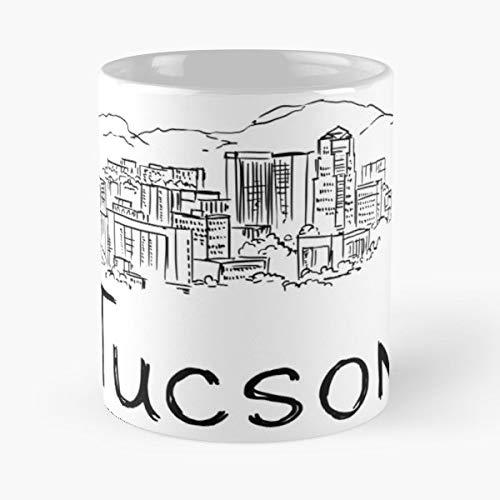 Panoramic View Tucson City Skyline Downtown Az Usa C The Best Selling Tea Coffee Mug Ever]()