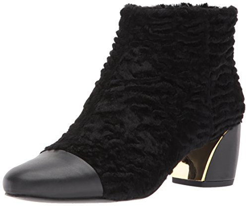 Nine West Women's Joannie Ankle Boot, Black Fabric, 12 Medium - Rubber West Nine Boots