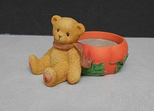 Bear with Pumpkin Votive Candle Holder -