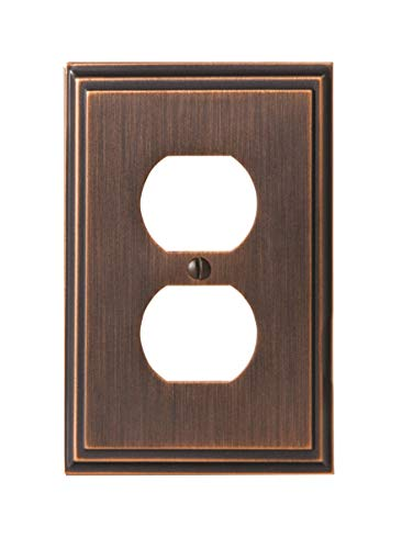 Amerock BP36522ORB Mulholland 1 Receptacle Wall Plate - Oil-Rubbed Bronze