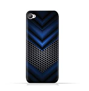 AMC Design HTC Desire 12 TPU Silicone Protective case with Abstract Blue Mesh Pattern