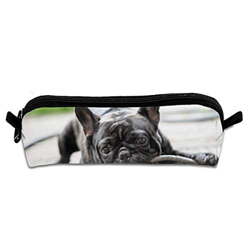 Bites Branch - CQCJHHXH Bulldog Bored to Bite A Tree Branch Pencil Case Bag Stationery Pouch Bag for Kids,School Student Stationery