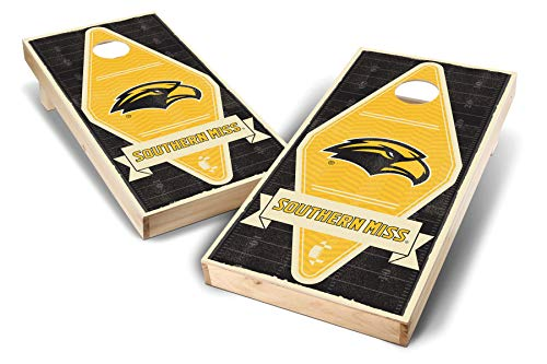 - PROLINE NCAA College Southern Mississippi Golden Eagles 2' x 4' Cornhole Board Set - Vintage Triangle 15 Design