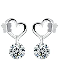 Richy-Glory - Vintage Jewelry Top quality silver plated butterfly earrings