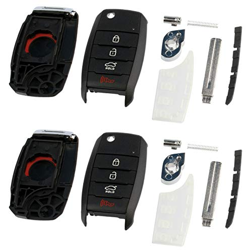 2 Case Shell fits Kia Optima Rio Soul Sorrento Sportage Key Fob Keyless Entry -