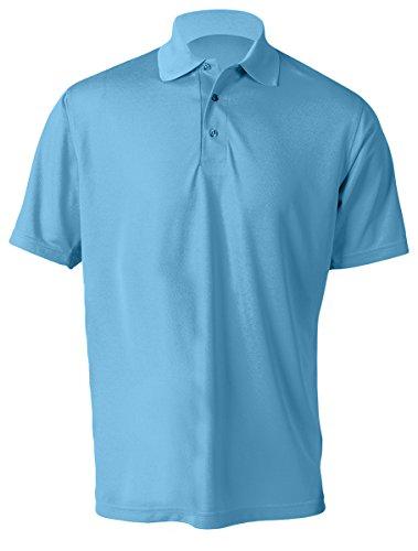 Paragon Mens Anti Microbial 30 Upf Protection Polo Shirt  Bimini Blue  Medium
